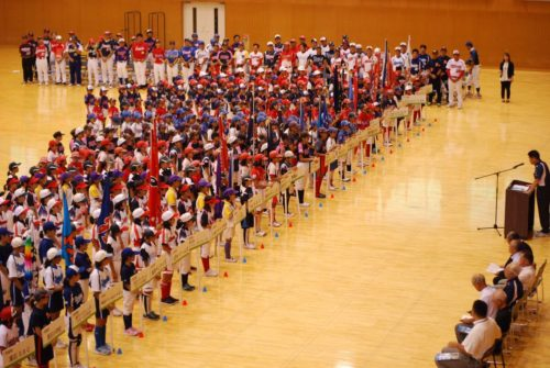 第9回ミズノカップ東日本小学生女子ソフトボール大会開会式