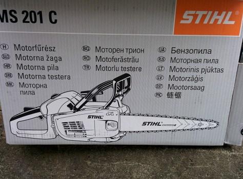 STIHL MS201の箱