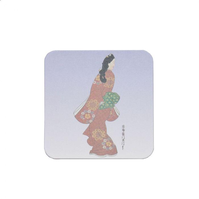 Ukiyoe Coaster Mikaeri Bijin