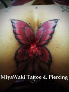 miyawaki tattoo genital butterfly