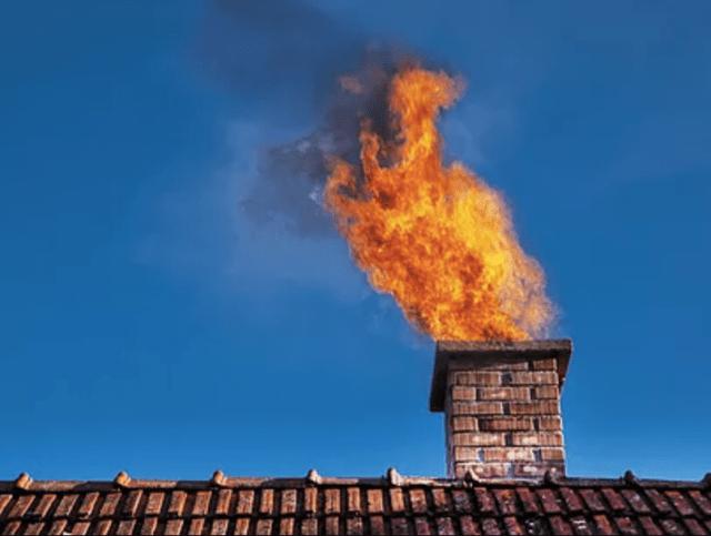 Огонь из дымохода