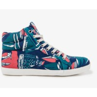 Forever 21 Abstract Print high top sneaker