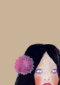 女性 花飾り