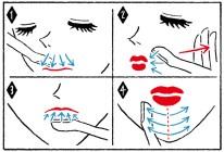 貝印 イラスト ガール モノトーン 線画