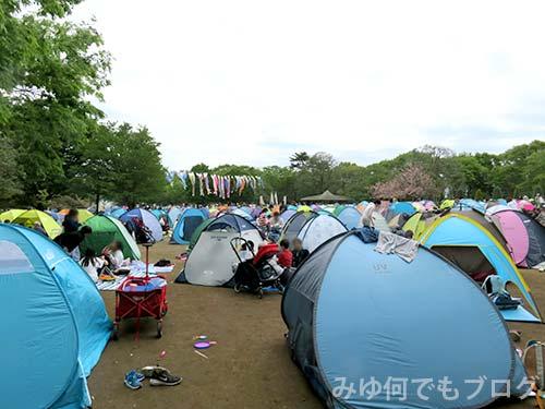 ふなばしアンデルセン公園広場のテント