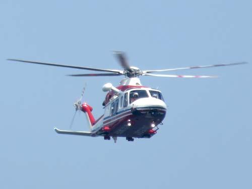 横浜防災フェア2019防災ヘリ水難救助訓練