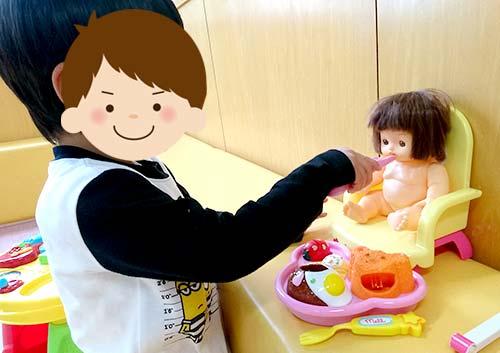 人形とおままごと遊び
