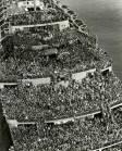 tropas estadounidenses Llegando al puerto de Nueva York, después de la victoria en 1945.