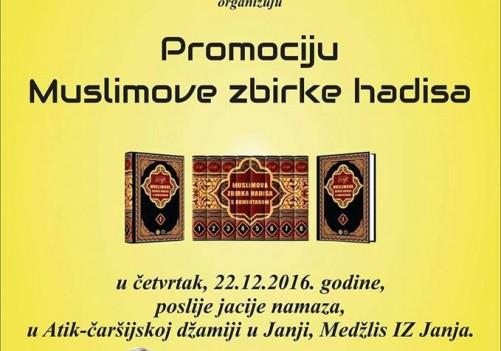 Predstavljanje Muslimove zbirke hadisa (22.12.2016.)