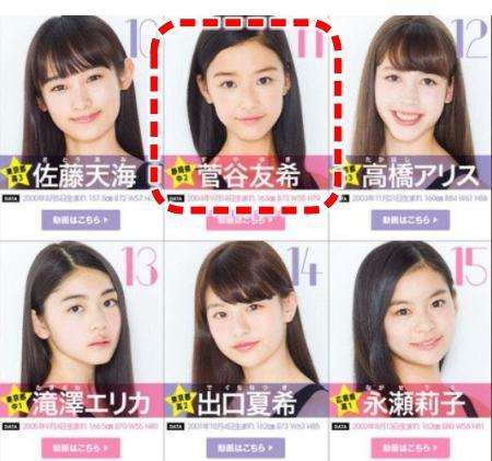 セブンティーンモデルもオーディションに本名の菅谷友季として参加した汐谷友希