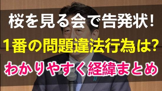 桜を見る会で安倍晋三首相が告発された!1番の問題点や違法行為やこれまでの経緯をわかりやすくまとめ