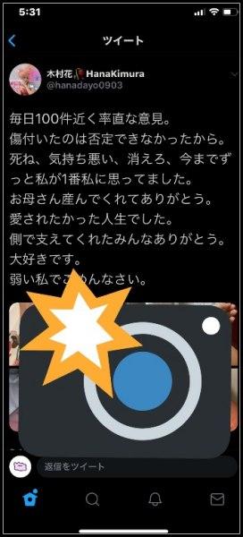 木村花のツイッターへのメンヘラ投稿画像