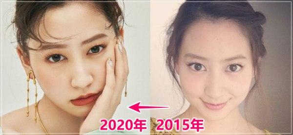 河北麻友子の過去と現在の顔の変化を比較画像