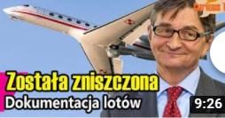 Szok! Dokumentacja lotów Kuchcińskiego została zniszczona