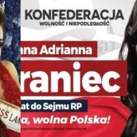 """Tak Konfederacja """"wdarła się"""" do TVP! Wicemiss świata startuje do sejmu! Roksana Oraniec na liście kieleckiej [FOTO+VIDEO]]"""