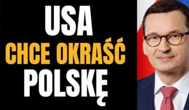 Pilne! Amerykańscy kongresmeni napisali list do Morawieckiego- chcą polskich złóż..