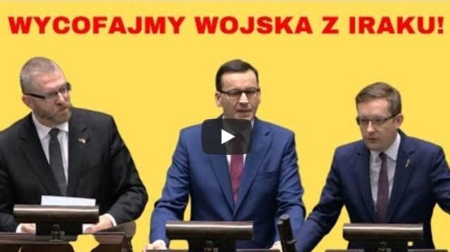 Braun, Winnicki, Morawiecki o sytuacji na Bliskim Wschodzie