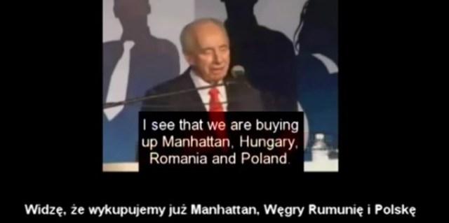"""Prezydent Izraela-Szymon Peres """"Z łatwością wykupujemy Polskę"""""""
