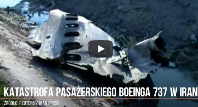 Katastrofa ukraińskiego Boeinga 737 w Iranie z 176 osobami na pokładzie