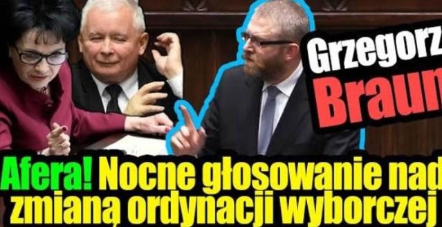 Afera! Nocne głosowanie nad zmianą ordynacji wyborczej – Grzegorz Braun