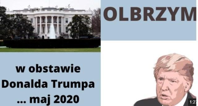 URSZULA: OLBRZYM w obstawie Donalda Trumpa, 1 czerwca 2020