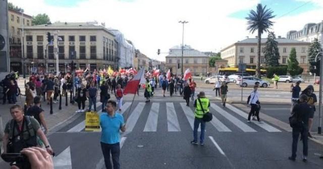 Strajk Przedsiębiorców w Warszawie 06.06.2020