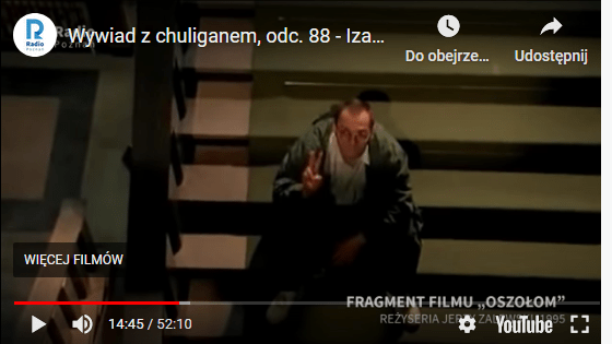 Oszołom – film Jerzego Zalewskiego z 1995 rokuhttps://www.youtube.com/watch?v=wFQkrM5BapM