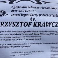 Szokujący nekrolog Krawczyka!!  Zareagował członek Zarządu EMA.