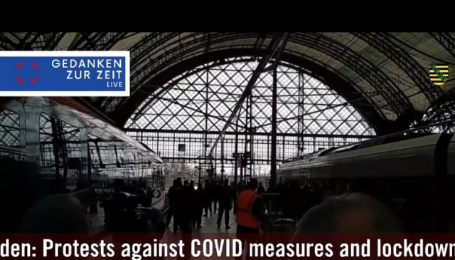 Dresden: Protests against COVID measures and lockdown 17.04.2021r