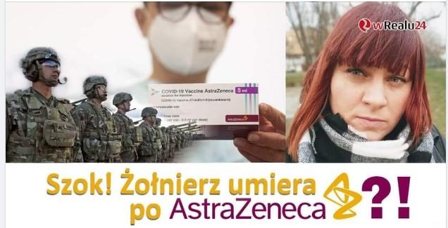 Szok! Żołnierz umiera po Astrazeneca oraz o funduszu kompensacyjnym