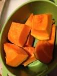 シリコンスチーマーでかぼちゃの煮物