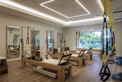 The Pilates studio.