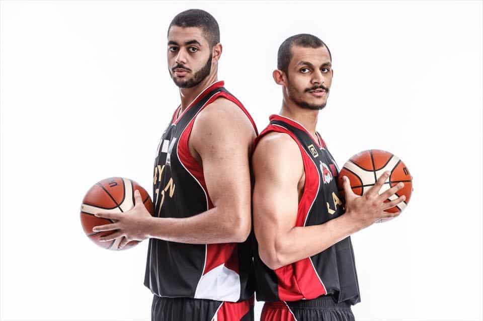Al Rayyan SC Team Captain Mizo Amin with Abdulrahman Abdelhaleem
