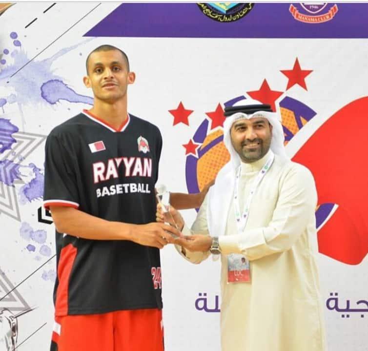 Mizo Amin best 3 point shooter in the gulf region trophy