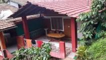 Our private balcony. Ganesh Estate Homestay, Madikeri
