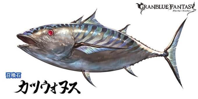 サプチケ カツウォヌス グラブル サプチケ 水SSR