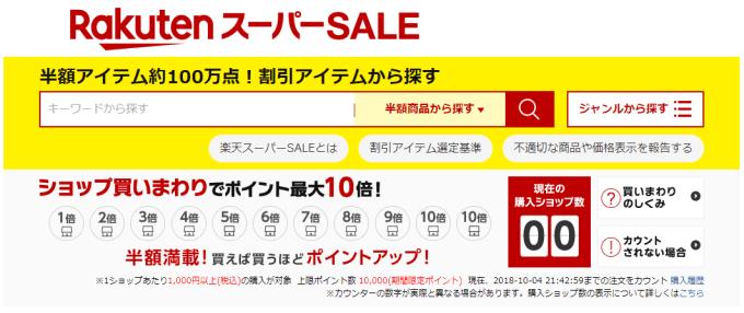 楽天スーパーセール 01 楽天スーパーSALE