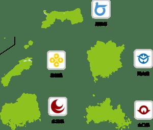 中国地方地図