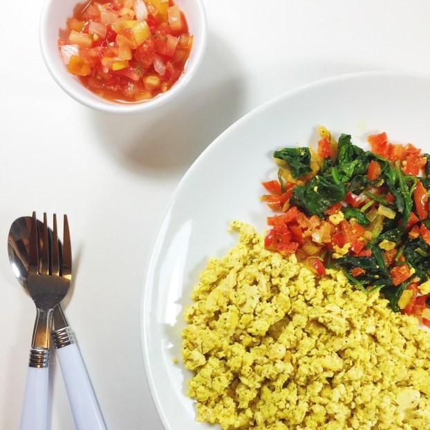vegan tofu breakfast scramble recipe