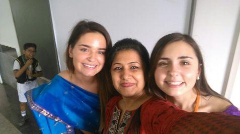 Sarah, Mehar ma'm, and I