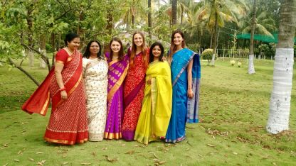 From left to right: Sowmya, Geeta, Me, Jill, Manju, and Sarah