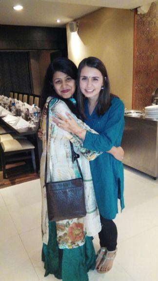 Mehar ma'm and I