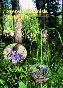 Svensk Botanisk Tidskrift, häfte nummer 3-4/2012.