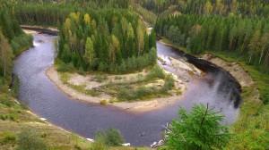 Mjällåns dalgång sträcker sig från Bastusjön i Ångermanland till Indalsälvens delta i Medelpad, en sträcka på ca 50 km. Efter sammanflödet med Ljustorpsån i Sanna heter ån Ljustorpsån. Foto Hans Sundström