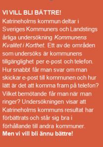 Om du fick bestämma – hur skulle du vilja nå och möta Katrineholms kommun?