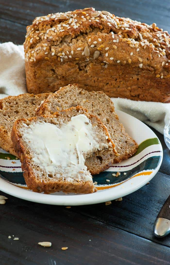 Easy Rye Quick Bread. This is a moist, flavorful loaf that you'll love. | mjbakesalot.com