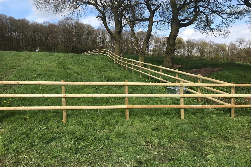 Post and Rail Fencing with New Water Troughs