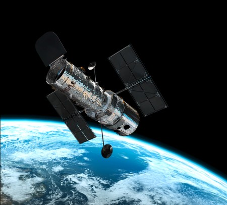 The Hubble Space Telelscope in orbit.For 30 odd years I was a lucky member of its crew.