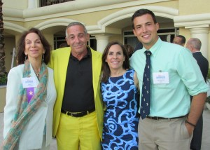 Photo 1 (L to R): Greater Fort Lauderdale Travelhost Publisher Ina Lee; featured artist Marc Rubin; President and CEO of ArtServe Jaye Abbate; featured artist Michael Brant Perna