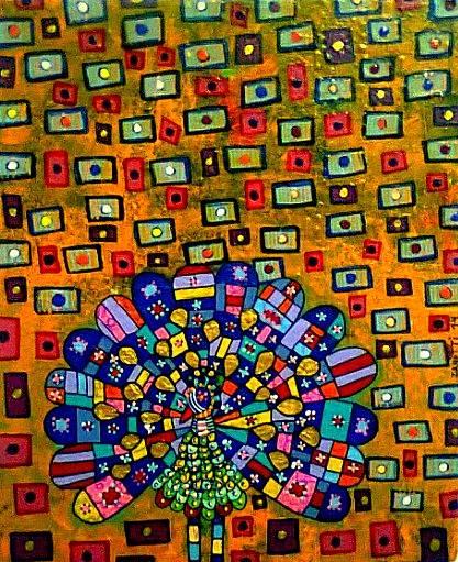 Mítico acrílico sobre lienzo 25cm x 30cm